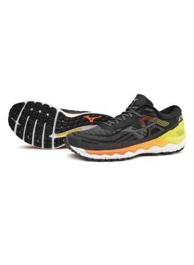 Mizuno Wave Sky 4 Erkek Koşu Ayakkabısı Siyah/Sarı Siyah
